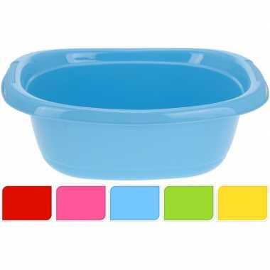 Blauwe ovale afwasteil 10 l