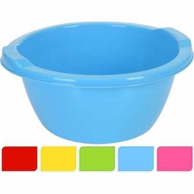 Blauwe ronde afwasteil 6,5 l