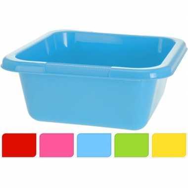 Groene vierkante afwasteil 15 l