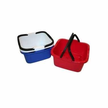 Handige teil / afwasteil met handvat donkerblauw 13 liter