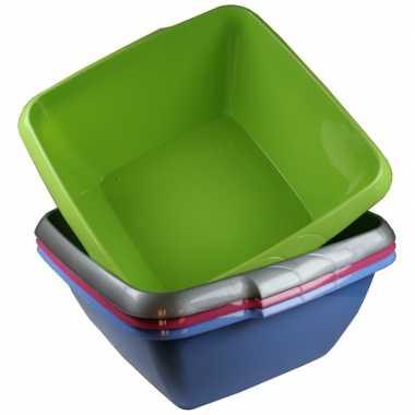Kunststof afwasteil blauw 11 liter