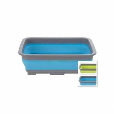 Opvouwbare camping afwasteil / afwasbak blauw 8 liter