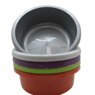 Rond afwasteiltje / afwasbak donker grijs 6,2 liter