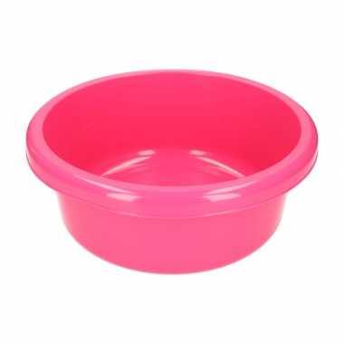 Rond afwasteiltje / afwasbak roze 6,2 liter