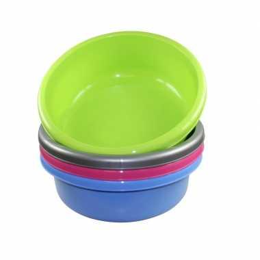 Ronde afwasteil groen kunststof 9 liter