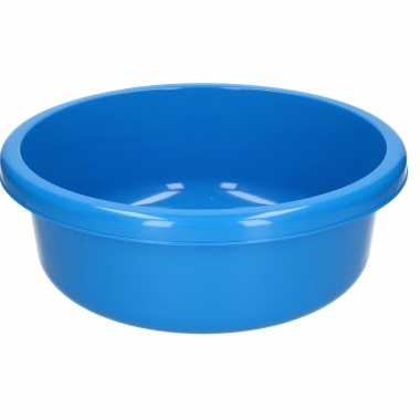 Ronde afwasteil kobalt blauw kunststof 9 liter